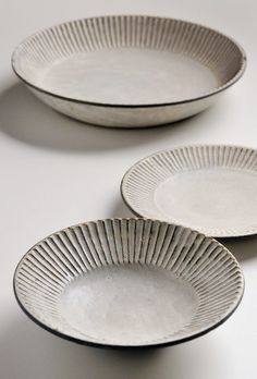Fabulous plates from Japanese master potter Akio Nukaga at Heath Ceramics. via Remodelista