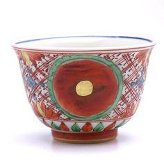 古赤絵金襴手赤玉文小碗・正木春蔵