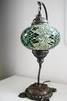 Turkish Lamp, Mosaic Lamp, Table Lamp, Mosaic Lamps, Moroccan Lanterns, Turkish Lamp, Bedside Lighting, Express Shipping GrandBazaarShopping
