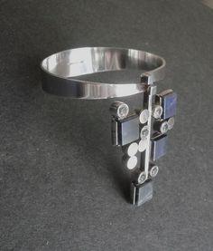 Elis Kauppi Kupittaan Kulta Finland Modernist Bracelet Sterling (item #1330042, detailed views)