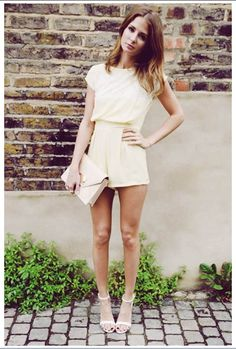 Millie Mackintosh wearing In Love with Fashion Playsuit, Zara High Heels, Jack French London Clutch and Pandora Rings Fashion Idol, I Love Fashion, Star Fashion, Daily Fashion, Fashion Beauty, Fashion Outfits, Fashion Heels, Casual Chic, Millie Mackintosh