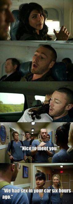 """#Quantico 1x01 """"Run"""".. ryan.... prazer te conhecer.... Alex: A gente fez sexo no seu carro a 6 horas"""