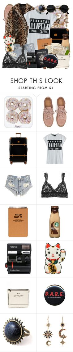 """""""Untitled #17"""" by ltylerrr ❤ liked on Polyvore featuring Bric's, WithChic, OneTeaspoon, Hanky Panky, Polaroid, Bag-All, Passport, Ultimate, Alex and Chloe and Roberto Cavalli"""