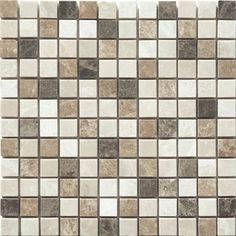 "Natural Stone - Marble Mosaic 	A warm blend of marble color makes a perfect complement for all beige toned floors and countertops 	Common Measurement (L x W): 12"" x 12"" 	Chemical Resistance: No 	Edge Style: Straight edge (rectified) 	Frost Resistance 	Indoor/Outdoor 	Color / Finish: Polished - Mix combination of Beige and Brown 	Mosaic: Yes 	PEI Rating: 3-Light to moderate traffic 	Shade Variation: Medium 	Sold As: Individual tile 	Square Footage Per Piece (Sq. Feet): 1 	Square Footage Per…"
