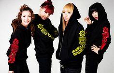 2ne1+Kpop+Zipper+Hoodie