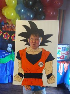 Dragon ball z party  photo prop