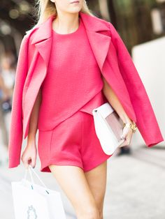 This monochromatic two piece is perfect for summer // Photo: Adam Katz Sinding of Le 21ème