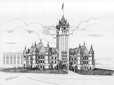 Spokane                                            County - Spokane, Washington Washington Court House, Spokane Washington, Washington State, County Court, State Court, Fort Walton Beach, Big Ben, Houses, Memories