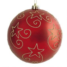 One of my favorite discoveries at Christmas Tree Shops andThat! - Large Red Star Shatterproof Ornament