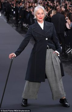 Centre of attention:First taking centre stage was Helen Mirren, who was effortlessly stun...