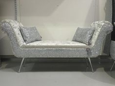 stunning double ended chaise lounge / bedroom seat | The Glitter Furniture Company®