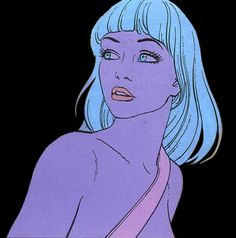 "A portrait of Animah, Queen of the Rats, from Jean Giraud Moebius' ""The Incal"""