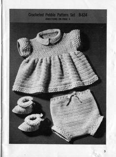 crocheted Pebble set