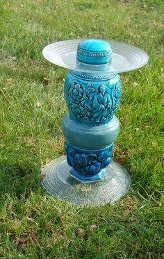 Shades of blue bird feeder