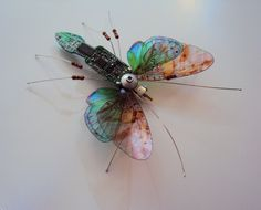 The Winged Circuit Board Insect by DewLeaf on Etsy