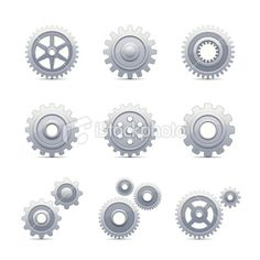 DMX, Set of Gears Royalty Free Stock Vector Art Illustration