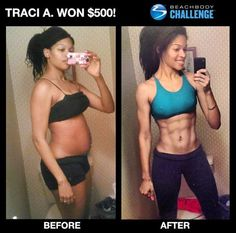 Traci A. lost an incredible 52 lbs doing Insanity! She bought the program shortly after giving birth and went from post-pregnancy to hot mama!  She also won $500 just for entering the Beachbody Challenge & posting her results!  Want to do the same? Join my upcoming Beachbody Challenge where you'll get everything you need to succeed the healthy way - fitness + nutrition + accountability + rewards. Contact me for more information and to join. :o)