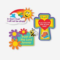 """""""Trust In The Lord"""" Magnet Craft Kit - OrientalTrading.com  $5.50 makes 12  Day 4: Trusting God helps us stand strong."""