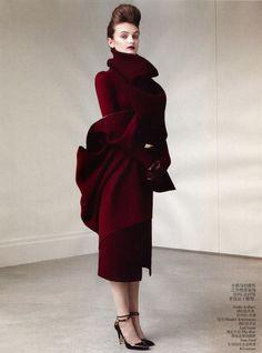 Haider Ackermann F/W 2012 in Vogue China August 2012