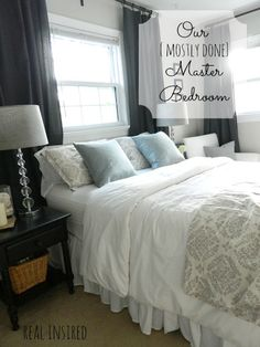 I Am Loving My New Gray Bedroom! Hubby Says I Can Never Change It.