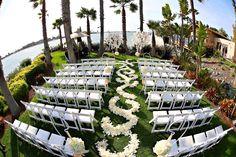 Island Point Lawn beach wedding venue in San Diego at Paradise Point Resort & Spa. #WeddingVenues