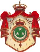 Egyptian coats of arms showing common Near and Middle Eastern motifs, namely the crescent and stars which are symbols of the region's predominant religion, Islam.