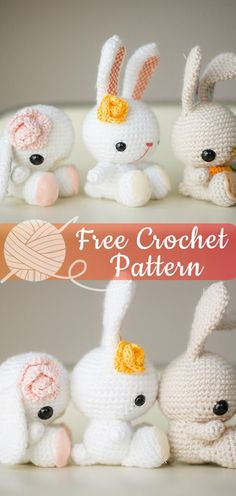 Mesmerizing Crochet an Amigurumi Rabbit Ideas. Lovely Crochet an Amigurumi Rabbit Ideas. Easter Crochet Patterns, Crochet Bunny Pattern, Crochet Amigurumi Free Patterns, Cute Crochet, Crochet Dolls, Knitting Patterns Free, Crochet Baby, Afghan Patterns, Beautiful Crochet