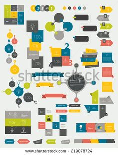 Speech bubble diagram scheme infographic element work collections of info graphics flat design diagrams various color schemes boxes speech bubbles for print or web design buy this stock vector on ccuart Images