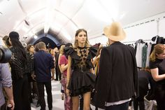 Elie Saab at Paris Fashion Week Spring 2017 - Backstage Runway Photos