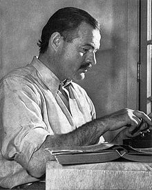 Ernest Hemingway, 1899-1961, (U.S.) novelist, short-story writer. A Farewell to Arms, For Whom the Bell Tolls.