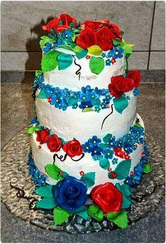 Torta con rose in pdz