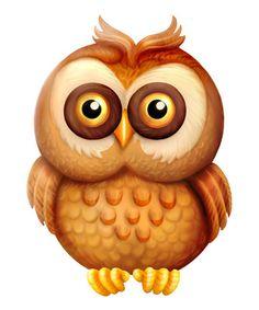 Cartoon Owl Clipart Intelligent Wise Bird Illustration | Just Free Image Download