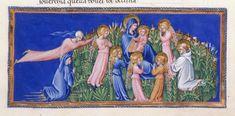 Virgin and Child and Bernard - Dante Alighieri TitleDivina Commedia OriginItaly, N. (Tuscany, Siena?) Datebetween 1444 and c. 1450 LanguageItalian    http://www.bl.uk/catalogues/illuminatedmanuscripts/record.asp?MSID=6468&CollID=58&NStart=36
