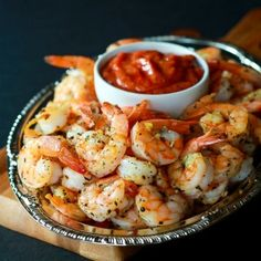 Garlic Herb Roasted Shrimp with Homemade Cocktail Sauce-feature