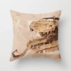 Mechanical Reincarnation Throw Pillow by baba yagada - $20.00