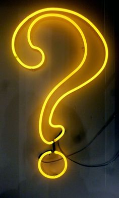 Que Es -yellow By Andy Doig Argon and glass tubing neon Question Mark Neon yellow Unique Question Mark, Neon Lighting, Neon Yellow, All Art, Electric, Neon Signs, Ink, Sculpture, Lights