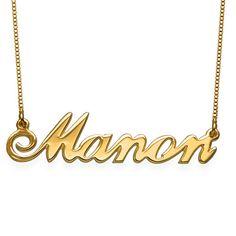 Collier Prénom Style Classique avec Pendentif en Plaqué Or 18ct | MonCollierPrenom