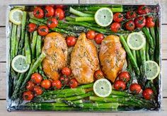 One Pan Honey garlic chicken and asparagus