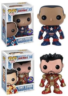 Marvel Pop Vinyl: Iron Man Movie 3 SDCC 2013 Exclusive Set Of 2 http://popvinyl.net #funko #funkopop #popvinyls