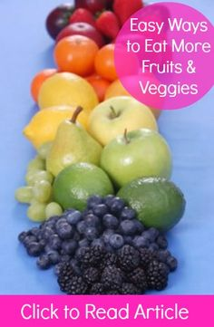 Easy Ways to Eat 5 Fruits & Veggies Each Day   via @SparkPeople #nutrition #diet #food #healthy