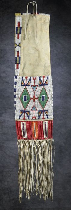 Sioux Beaded & Quilled Pipe Bag - High Noon Western Americana