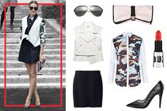 Love the l/s button-up paired with a vest- genius  Here's Olivia Palermo Looking Perfect, As Usual #Refinery29