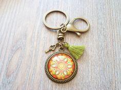 Anhänger - Schlüsselanhänger ❦ Mandala & Quaste ❦  - ein Designerstück von Flinke-Perle bei DaWanda