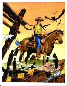 Tex Cover Commission; original art by Claudio Villa