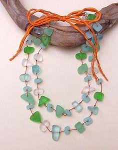 Whoa!! Sea Glass Jewelry | Sea Glass and Silk