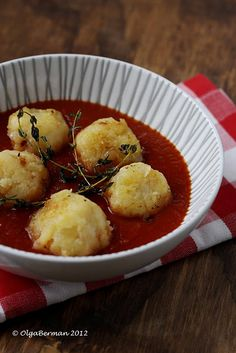 Potato Balls in Tomato Sauce