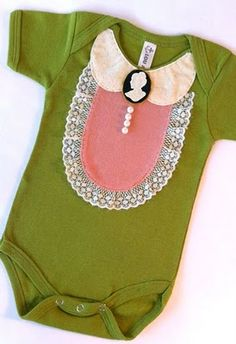 love the collar and lace, would want to switch out the colors. (this is the color in olive's diapers! wouldnt dress her in it!) sorry if thats gross!