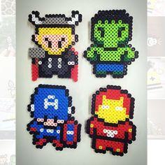 Avengers perler beads by tweety_98