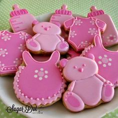 Sugar Dot Cookies: Baby Shower Sugar Cookies