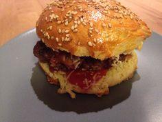 Burger maison buns réalisé au companion Moulinex